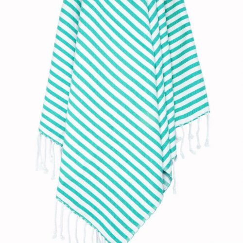 Buldano Turkish Towel Turquoise Stripe