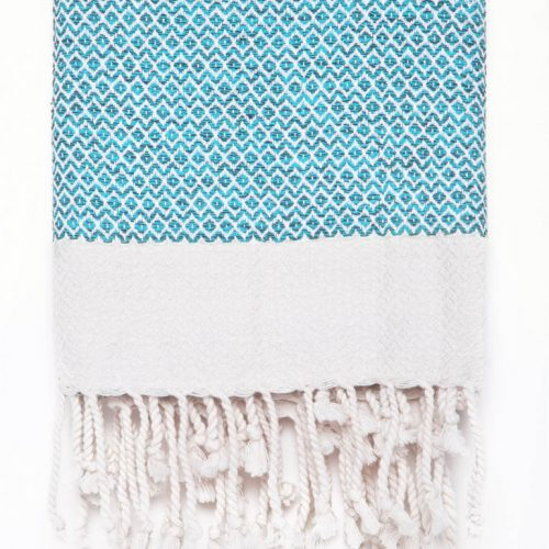Buldano Diamond Turkish Towel Light Blue