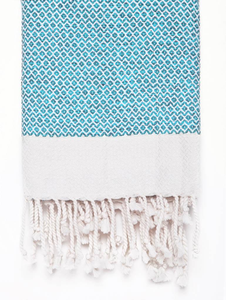 Buldano Diamond Turkish Towel Light Blue