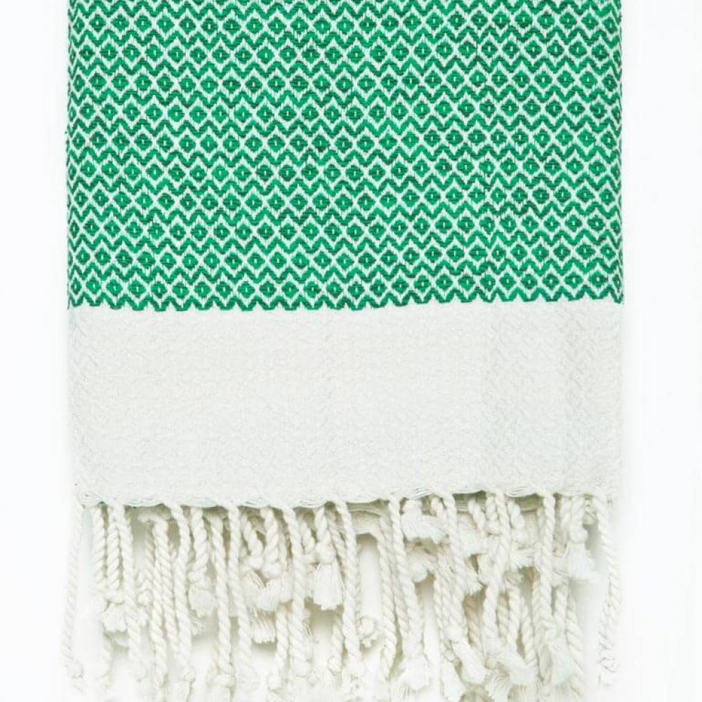 Buldano Diamond Turkish Towel Green