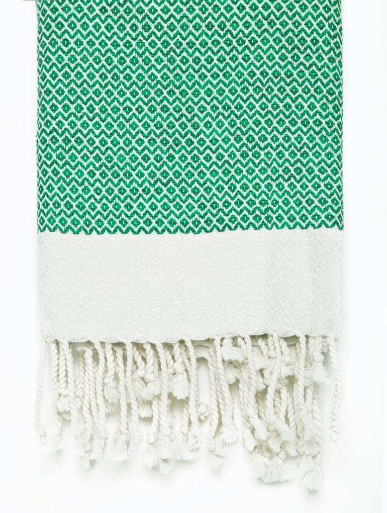 Buldano Diamond Turkish Towel Green
