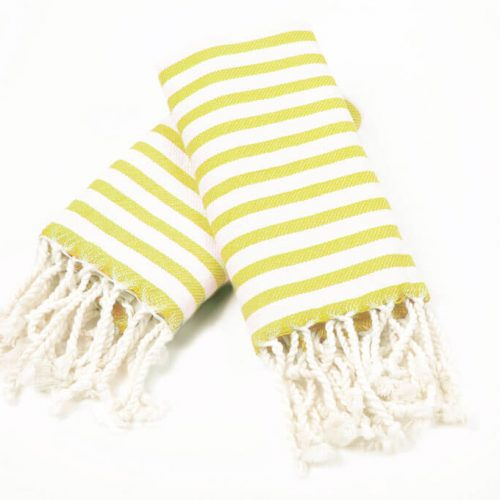 Buldano Stripe Mini Towel Yellow