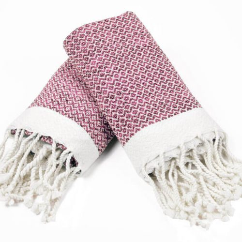 Buldano Diamond Pink Hand Towel