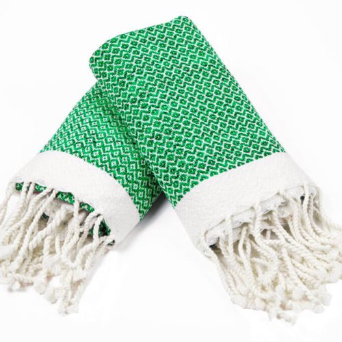 Buldano Diamond Hand Towel Green