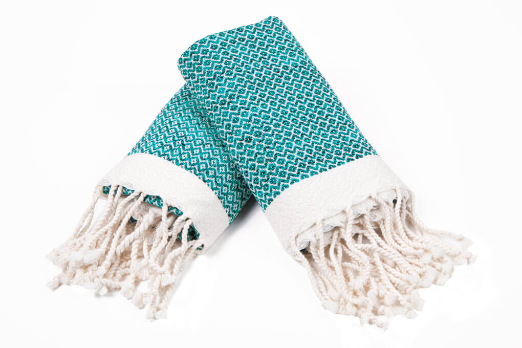 Buldano Diamond Hand Towel Turquoise