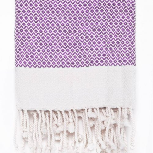 Buldano Diamond Turkish Towel Purple