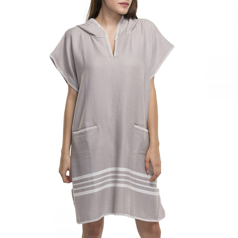 Buldano Poncho Light Grey