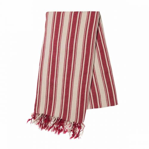 Buldano Turkish Towel - Verti Stripes Red