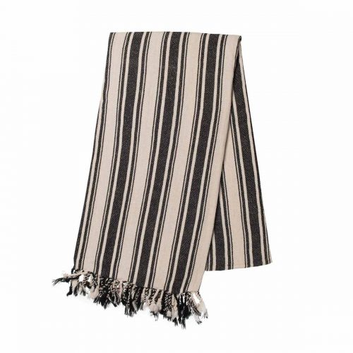 Buldano Turkish Towel - Verti Stripes Black