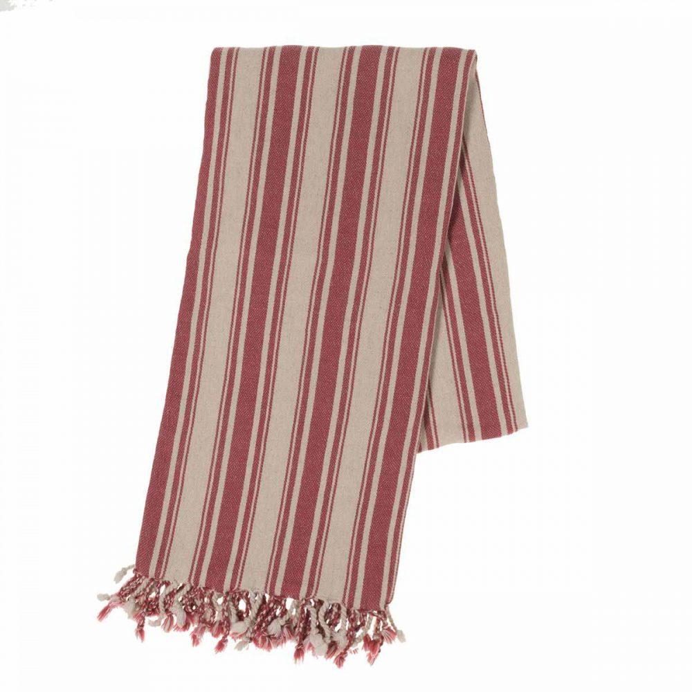 Buldano Turkish Towel - Verti Stripes Rose
