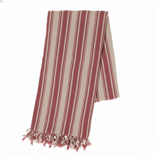 Buldano Turkish Towel - Verti Stripes Rose