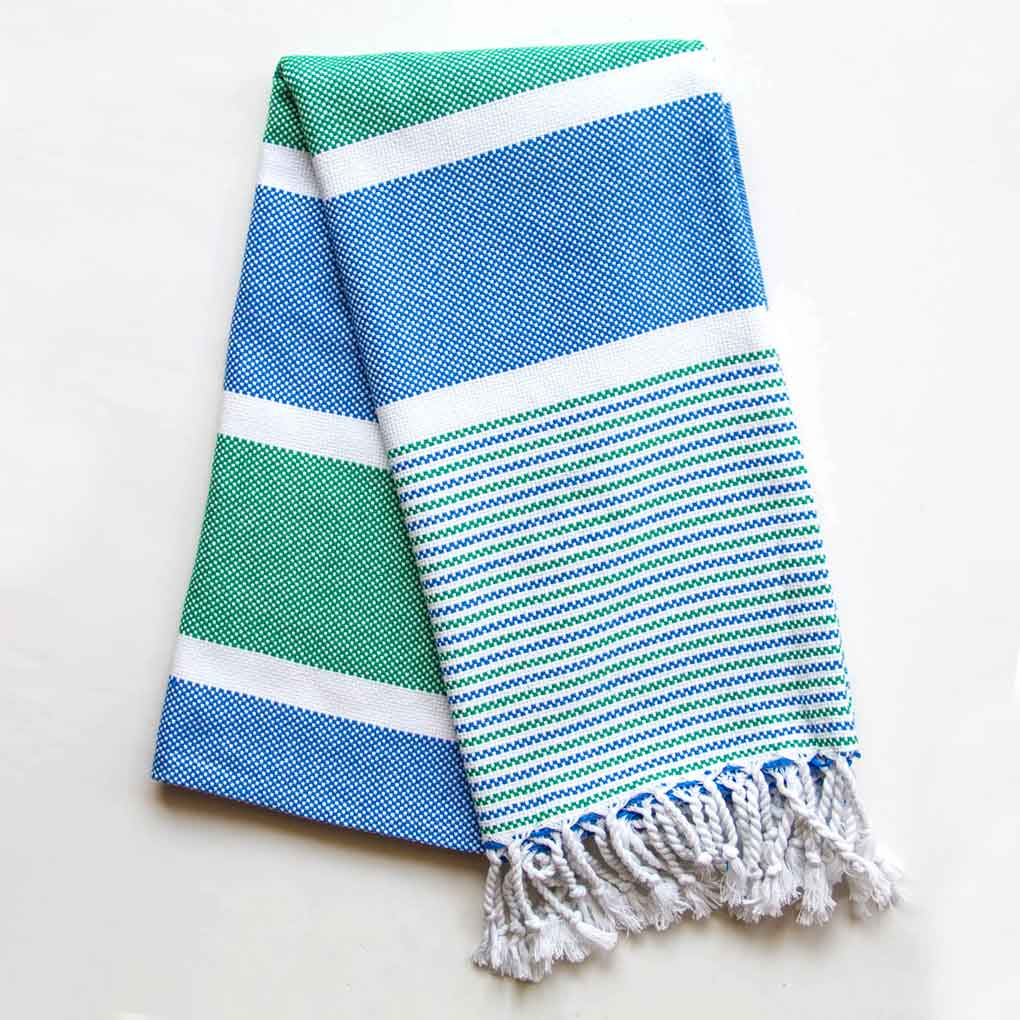 Climax Turkish Towel Blue Green