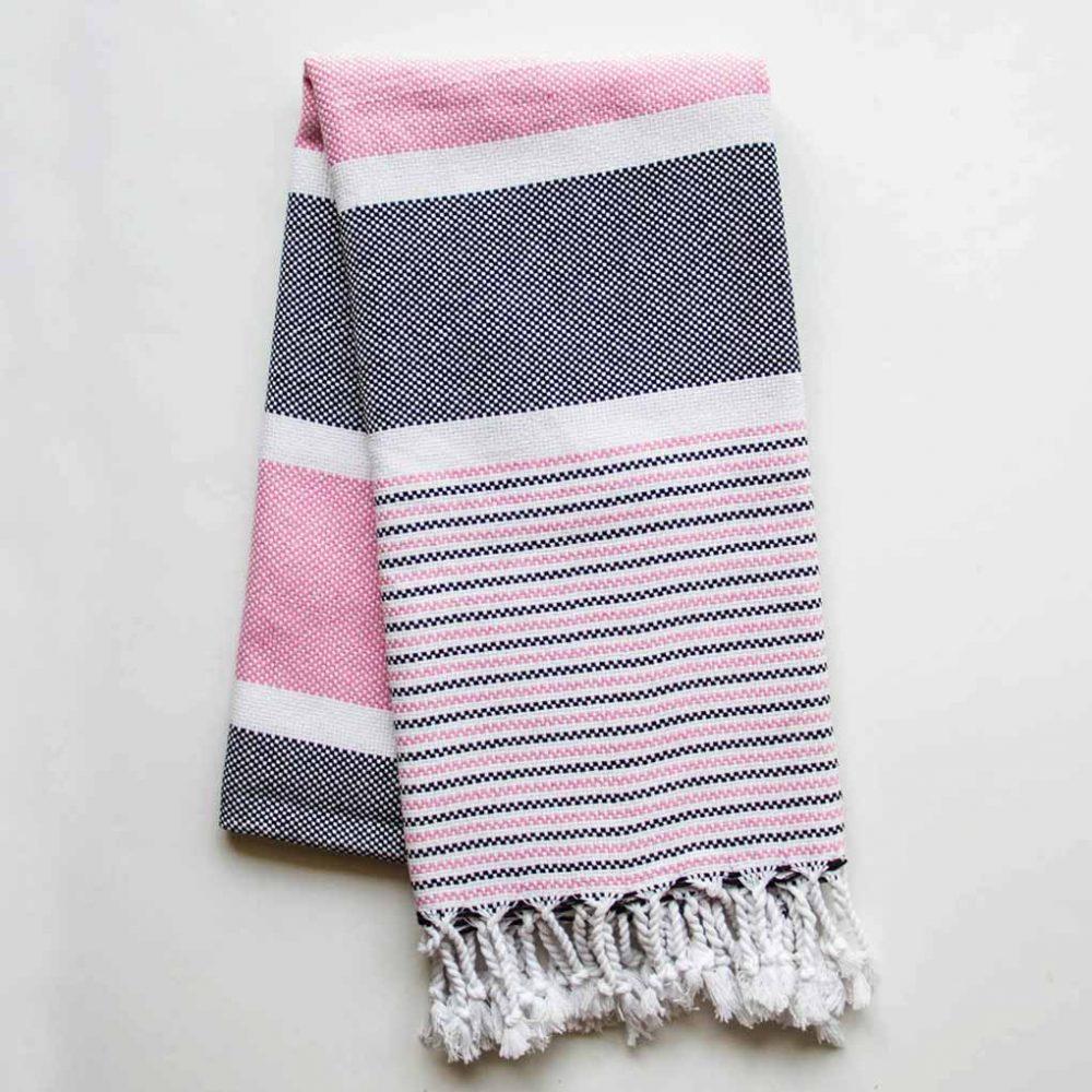 Climax Turkish Towel Pink Black