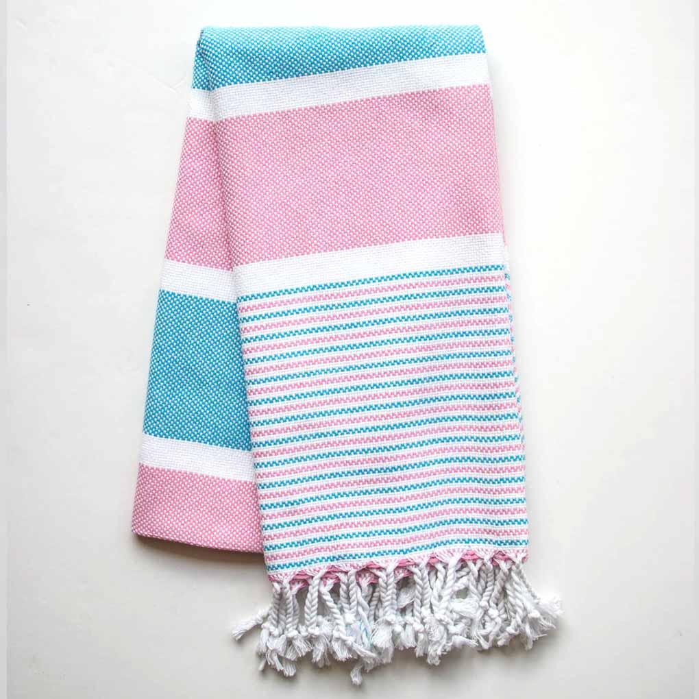 Buldano Climax Turkish Towel Blue Pink
