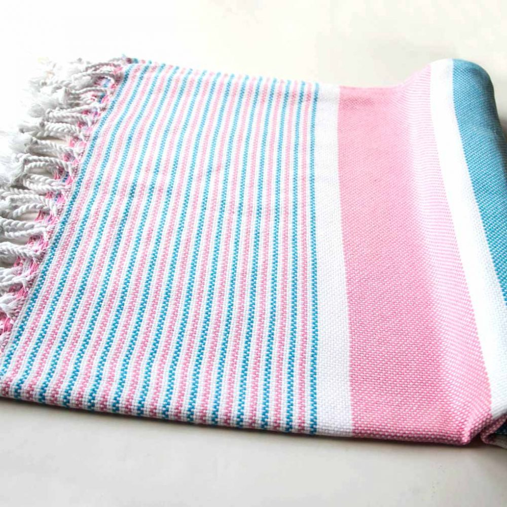 Buldano Climax Turkish Towel Blue Pink
