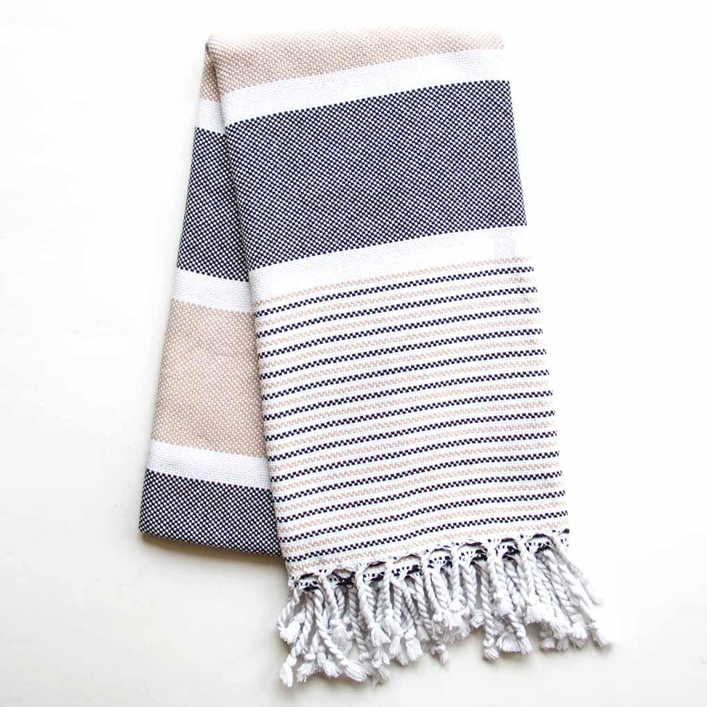 Buldano Climax Turkish Towel Latte Black