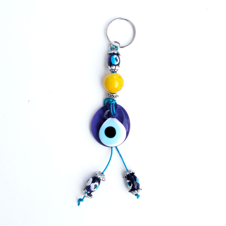 Turkish Blue Bead / Evil Eye Keychain - Sun
