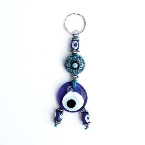 Turkish Blue Bead / Evil Eye Keychain - Talisman